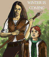 Osha and Rickon by crisurdiales