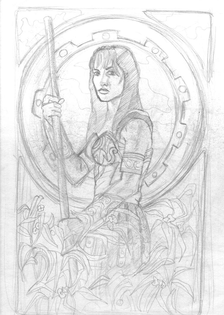 Xena the warrior princess by crisurdiales on deviantart Xena coloring book