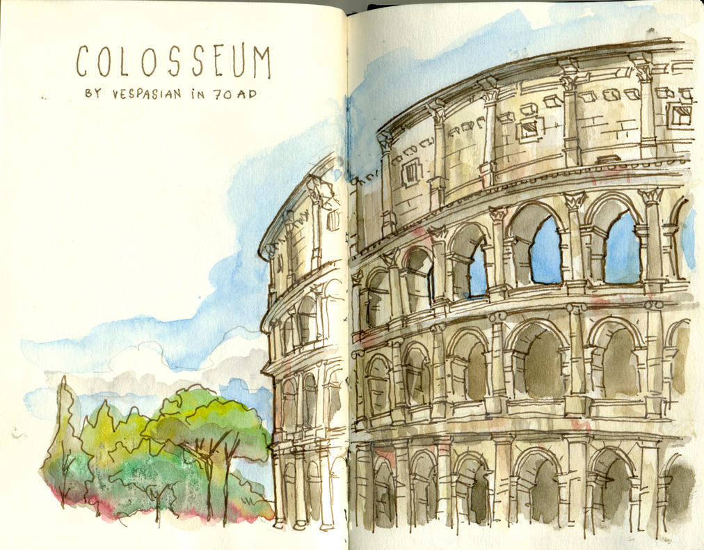 Behold the Colosseum! by crisurdiales