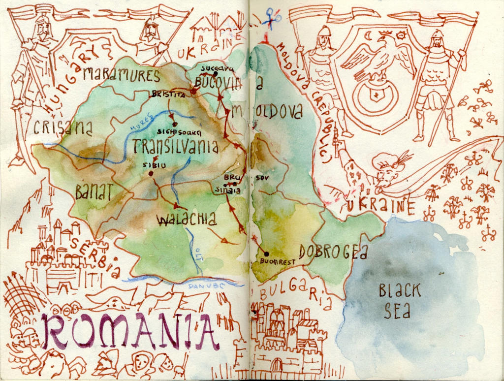 Map of Romania by crisurdiales