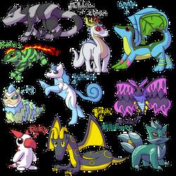 Neko's Fakemon Collection 5 by MajorLeeMan
