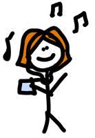 Listening To Music by JenniBeeMine