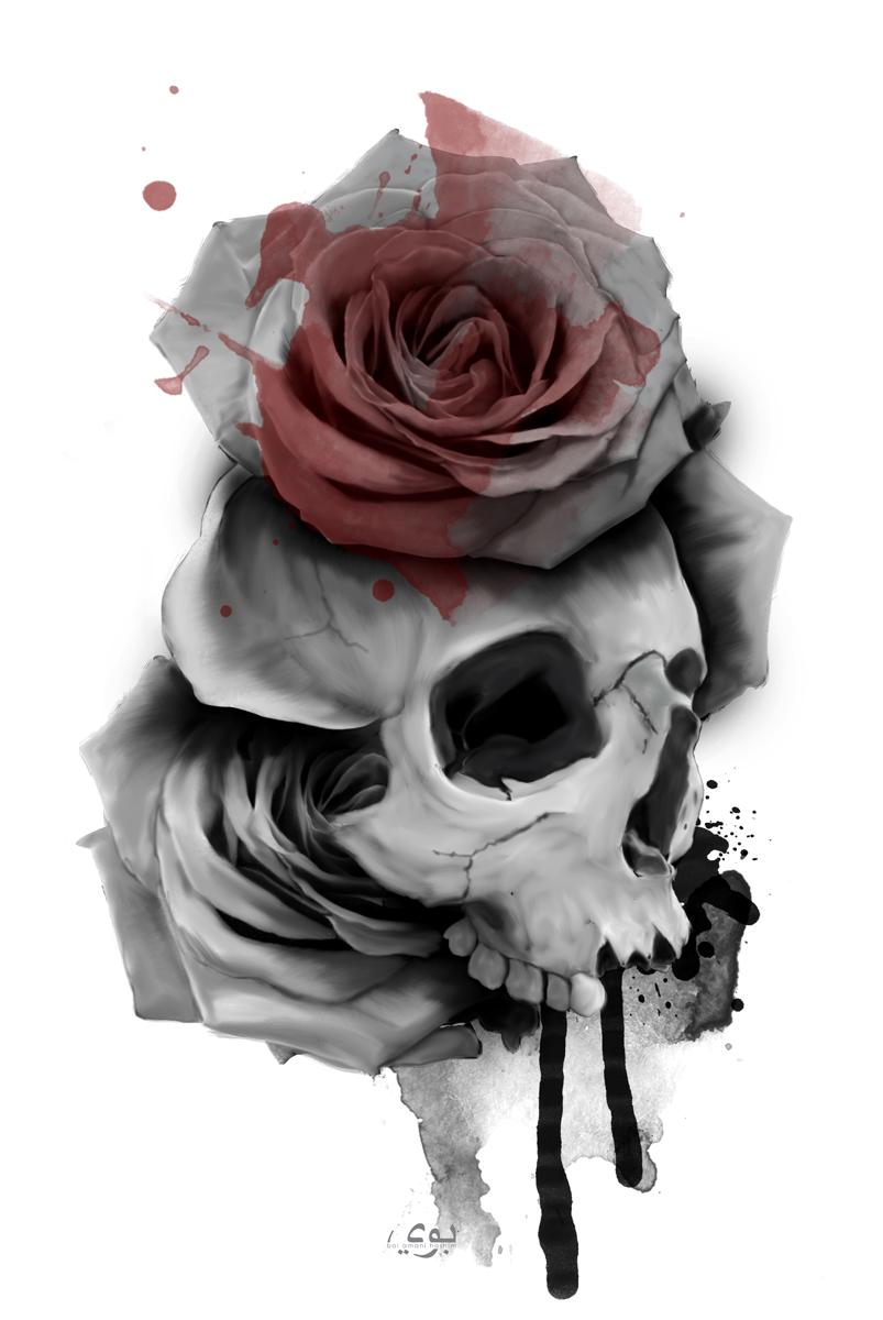 Skull Roses by exarxil