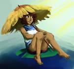 Ellone in the sun by SakakiTheTomiyoto