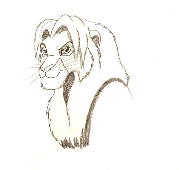 Cocky Simba by SolitaryGrayWolf
