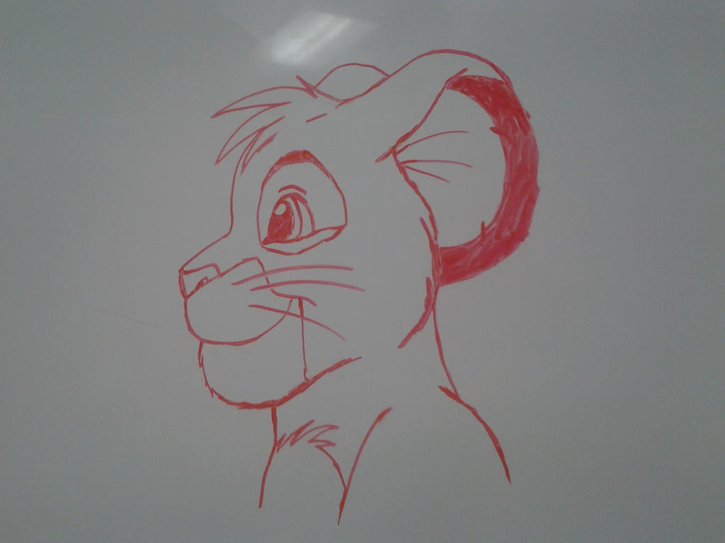 whiteboard simba by solitarygraywolf on deviantart