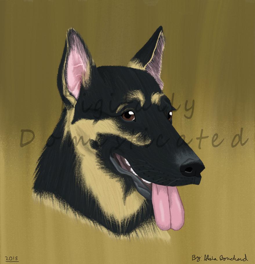 Portrait of Sy_Gift Art by SolitaryGrayWolf