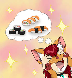 Excited for Sushi_Birthday Gift for FizzyBoov