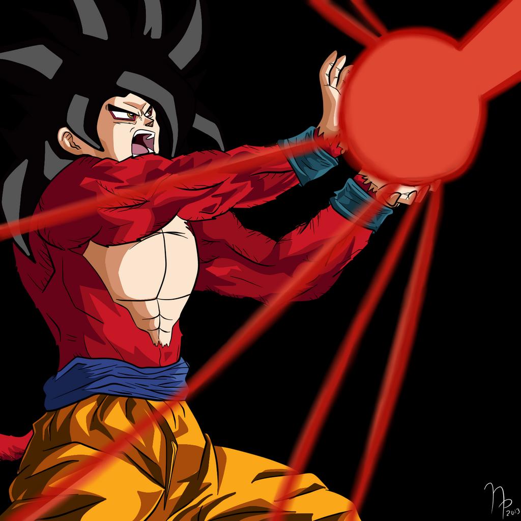 SSJ 4 Goku Kamehameha by BigWetWilly2612Goku Super Saiyan 4 Kamehameha X10