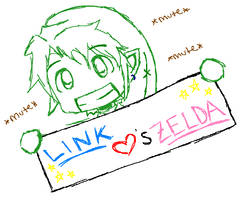 Link Hearts Zelda by AnonymousNavi