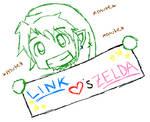 Link Hearts Zelda