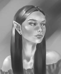 Elven girl by LaraJuneau