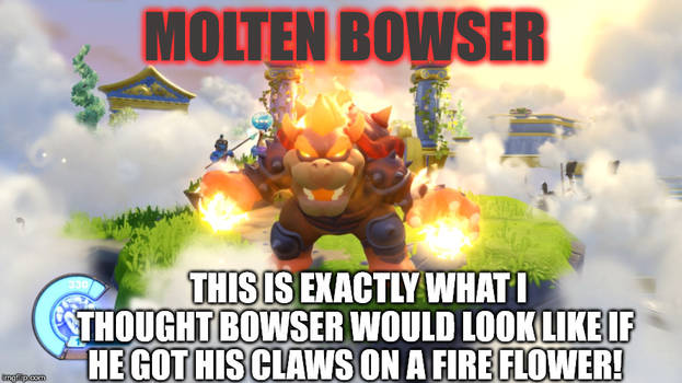 Bowser with a Fire Flower
