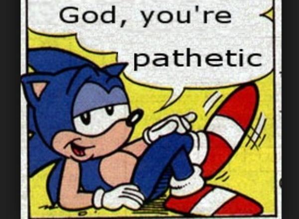 Sonic think's you pathetic.