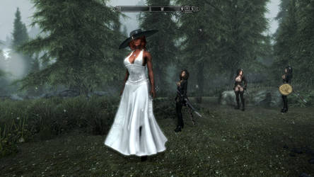 Alexshy cosplaying Alcina Dimitrescu in Skyrim #5