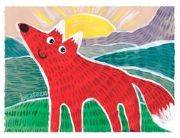 Happy Fox by beareen