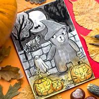 Inktober Day 31 - Happy Halloween by beareen