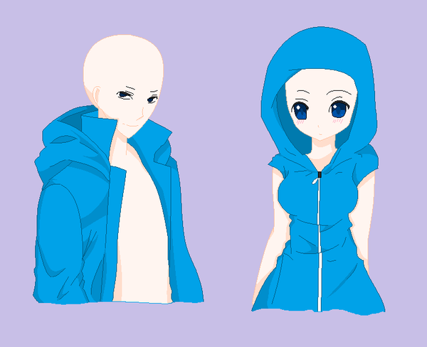 Boy and Girl Hoodie Base by natalielobsters on DeviantArt