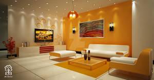 Orange Teen's Living Room