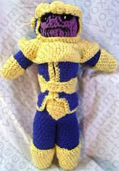 Thanos Amigurumi Tribute Doll by voxmortuum