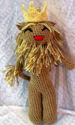 Cowardly Lion Amigurumi Doll by voxmortuum