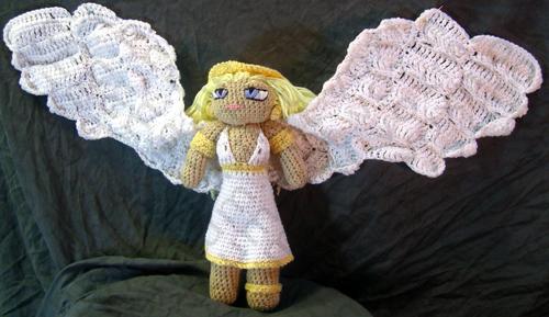 Female Angel Amigurumi Doll by voxmortuum
