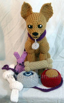 Chihuahua and Toys Plush Crocheted Doll