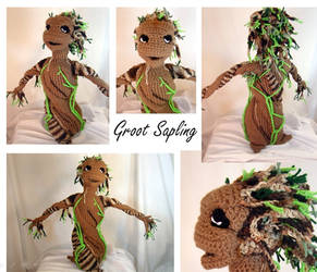 Baby Groot Sapling Plush Amigurumi Stuffed Toy