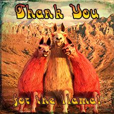 Thanks for the Llama DA