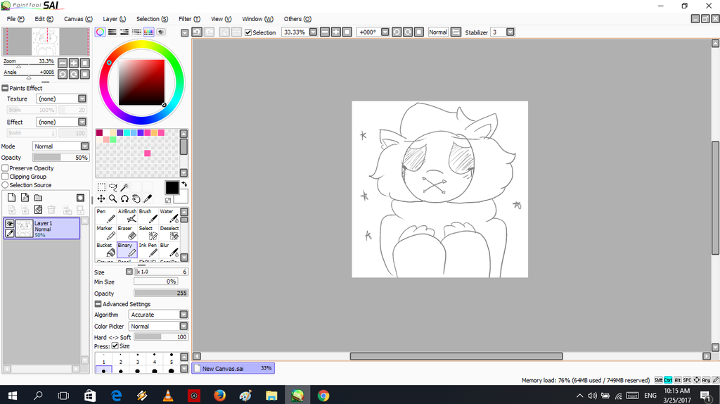 (WIP) Drawing Fluffeh (just bored :T) by SweetCottonPandry