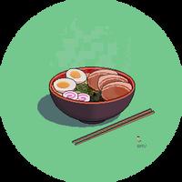 Shoyu Ramen Pixel Art by AdroitCell