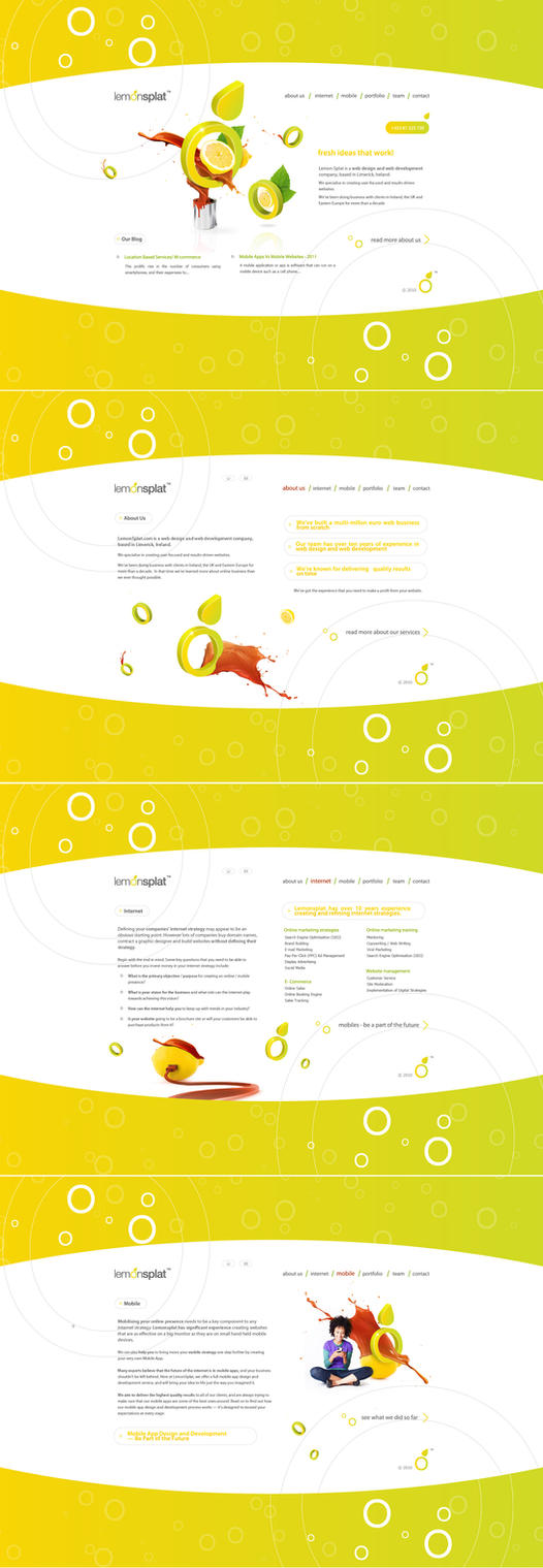lemonsplat website by coldfinch