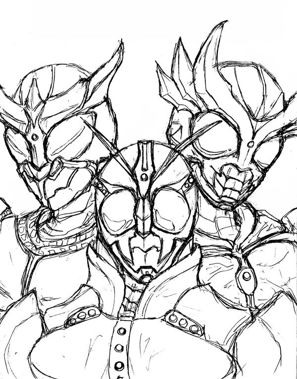 kamen rider coloring pages - photo#34