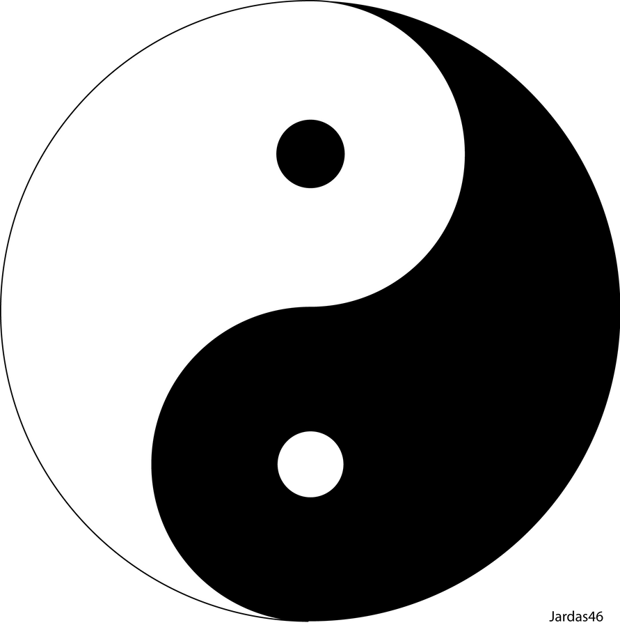 Ying and Yang symbol by Jardas46