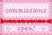 Commissions Open Button Stamp Banner by ichigocandii