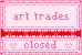 Art Trades Closed Button Stamp Banner by ichigocandii