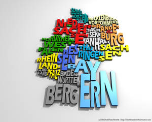Germany Typography Map