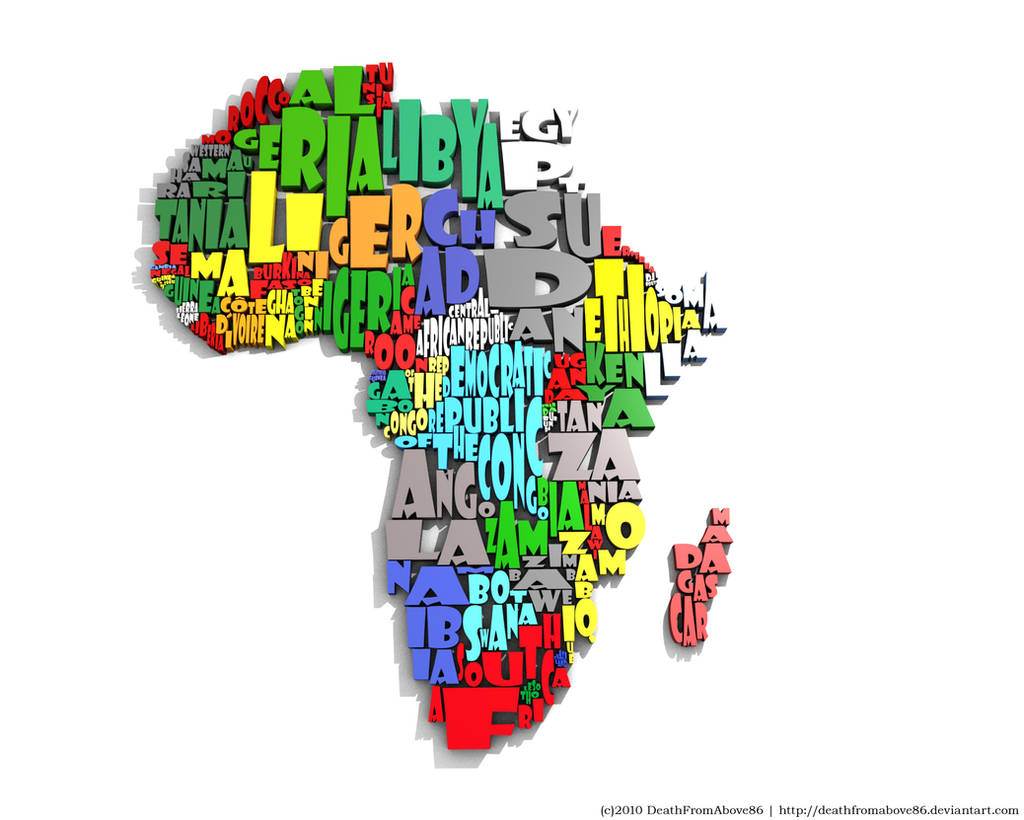 Africa Typography Map by DeathFromAbove86