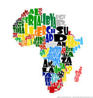 Africa Typography Map Concept