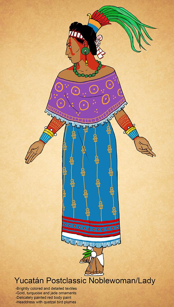 yucatan postclassic noblewoman by kamazotz on deviantart