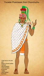 Maya Postclassic Chunchuchu cape by Kamazotz