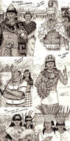 Kings and Queens of Mesoamerica sketch collection