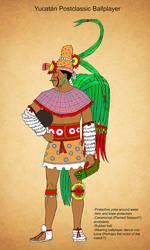 Yucatan Postclassic Ballplayer by Kamazotz