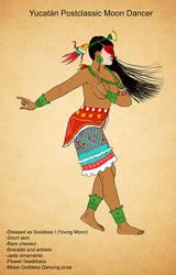 Postclassic Moon Goddess Dancer by Kamazotz