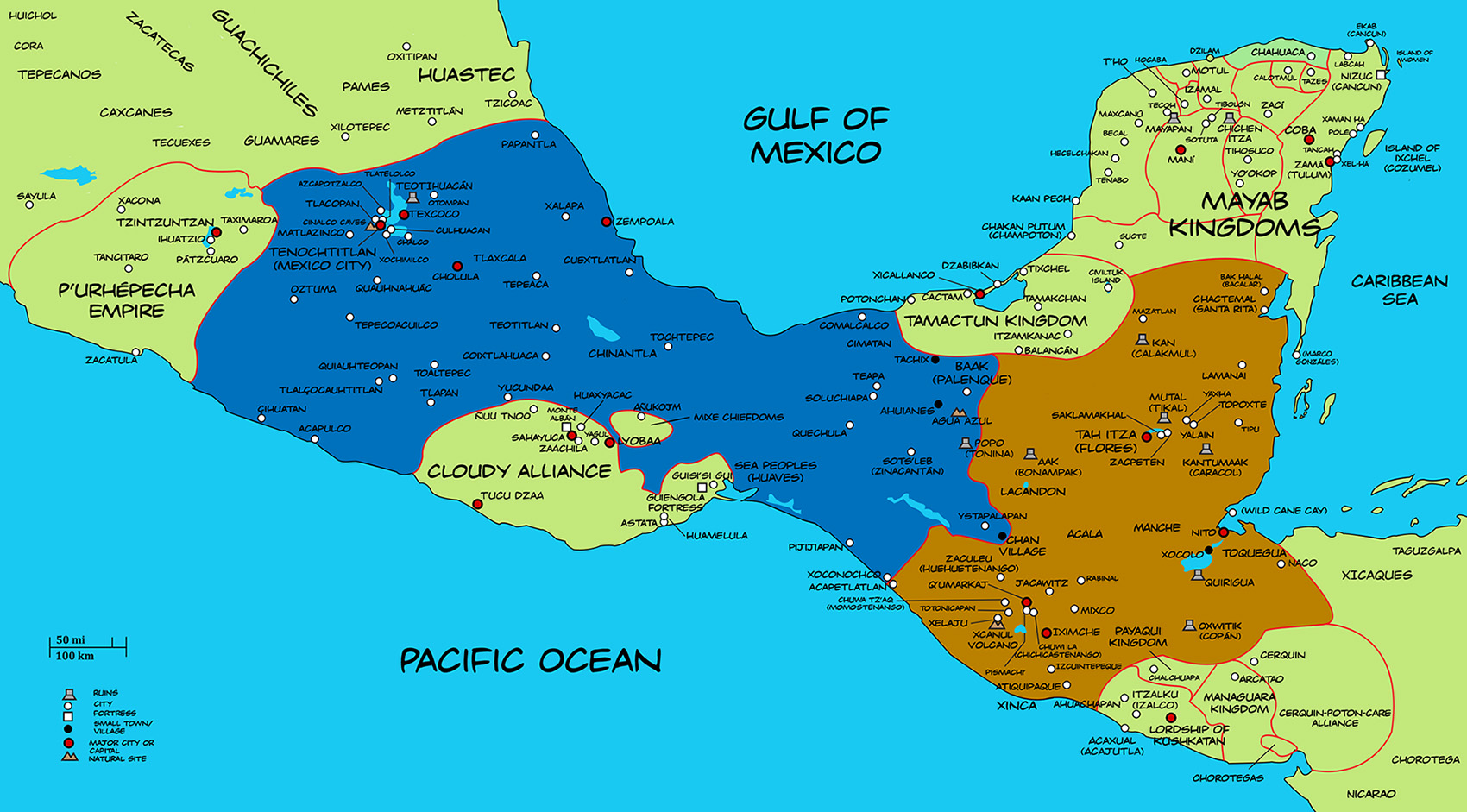 Mesoamerica Map Related Keywords & Suggestions - Mesoamerica Map Long ...