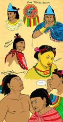 Aztec Characters Sketch