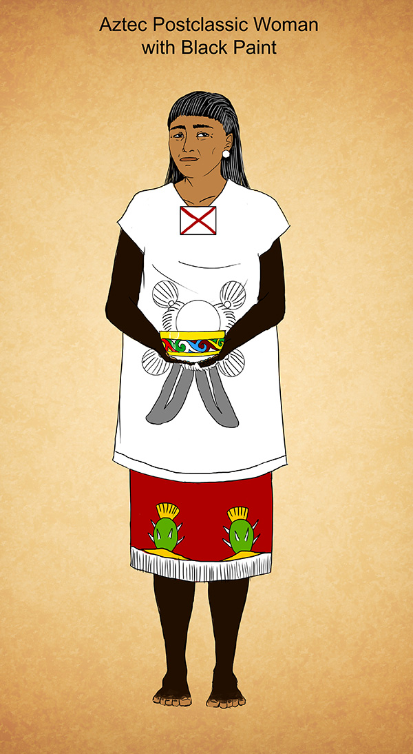 Aztec Postclassic Woman in Black Paint by Kamazotz