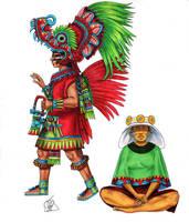 Teotihuacan figures by Kamazotz