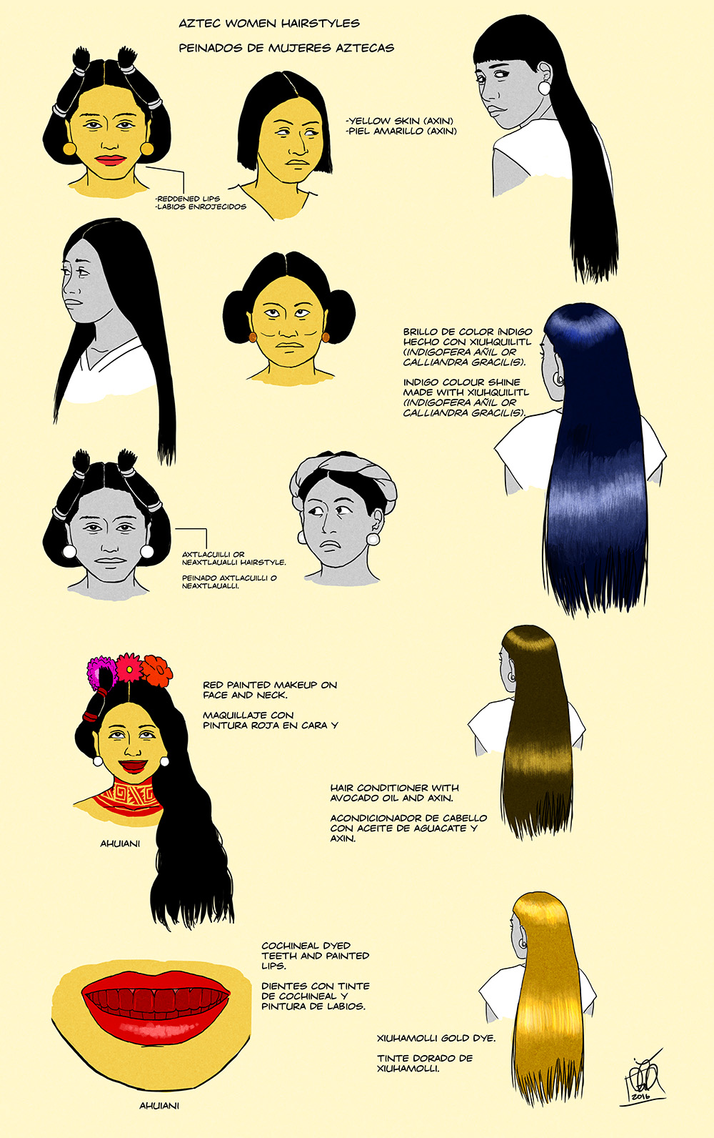 Aztec Women Hairstyles By Kamazotz On Deviantart