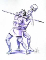 Bonampak vs White Dog by Kamazotz